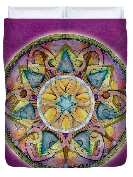 Radiant Health Mandala Duvet Cover