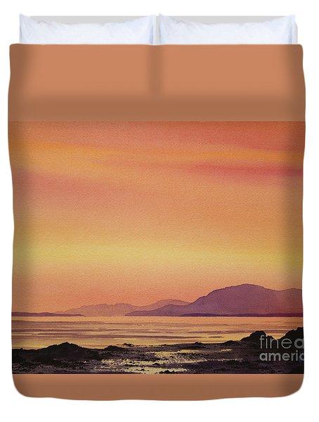 Radiant Island Sunset Duvet Cover by James Williamson