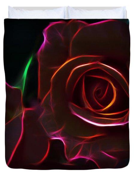 Radiant Rose  Duvet Cover