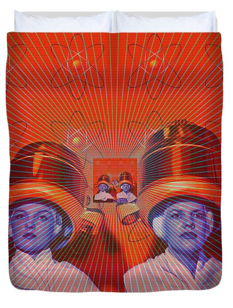 Radiant Duvet Cover by Sasha Keen
