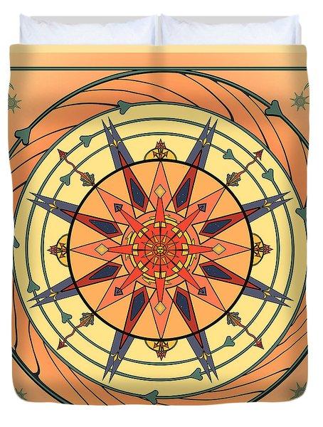 Radiant Sun Mandala Duvet Cover
