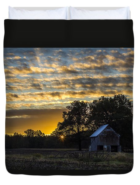 Radiating Sunrise Duvet Cover