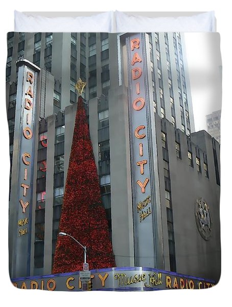 Radio City Christmas Duvet Cover