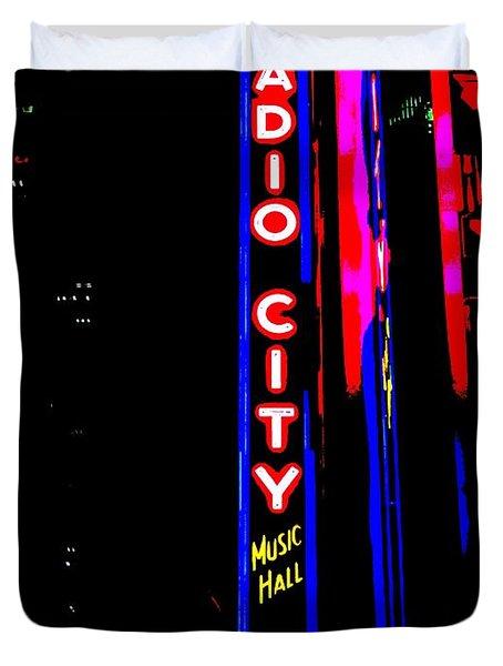 Radio City Music Hall Duvet Cover by Ed Weidman