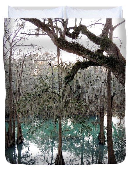 Radium Springs Creek Duvet Cover by Kim Pate