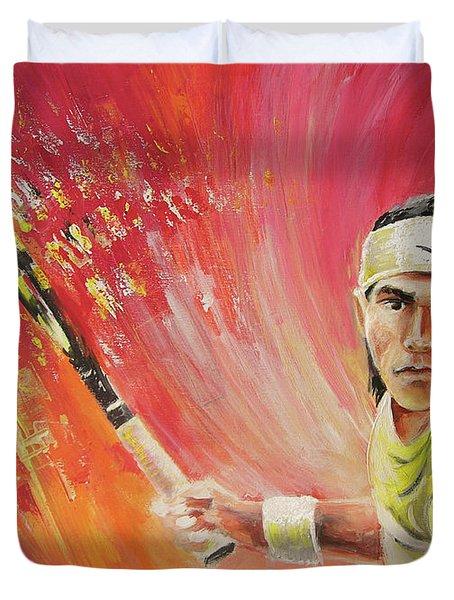Rafael Nadal Duvet Cover by Miki De Goodaboom