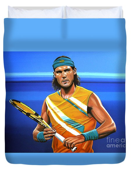 Rafael Nadal Duvet Cover by Paul Meijering