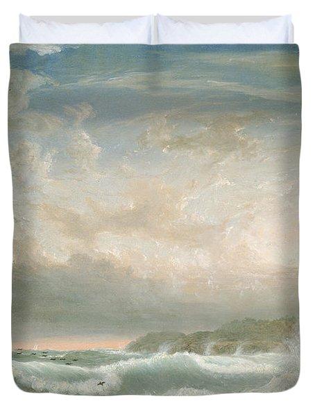 Rafes Chasm Gloucester   Massachusetts Duvet Cover