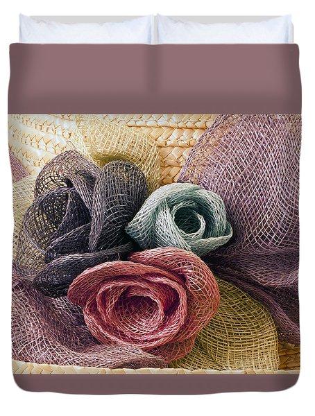 Raffia Roses Macro Duvet Cover