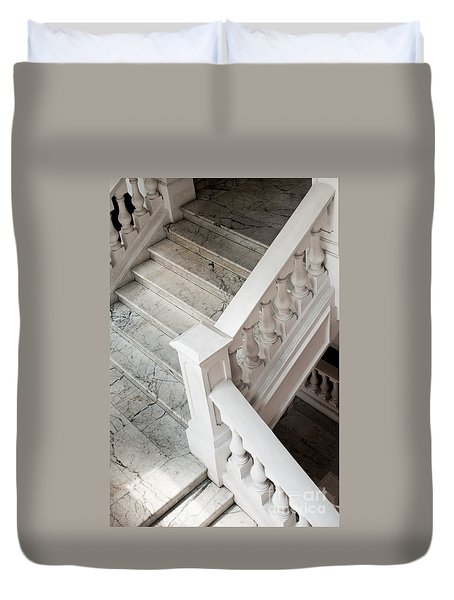 Raffle's Hotel Marble Staircase Duvet Cover