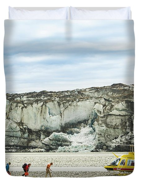 Rafters Loading Helicopter Duvet Cover