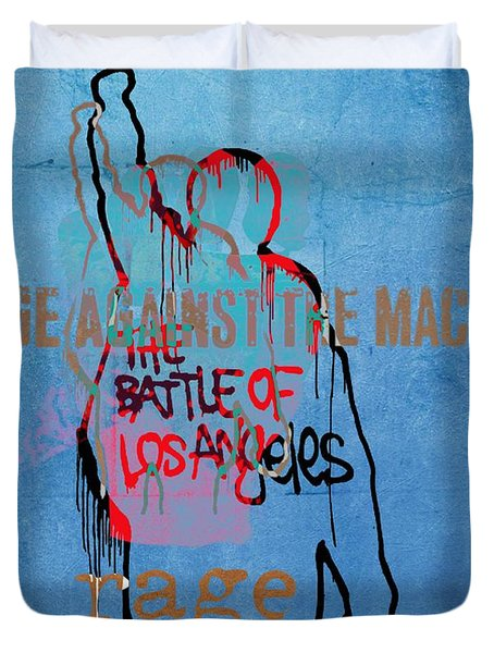 Rage Against The Machine Duvet Cover by Dan Sproul