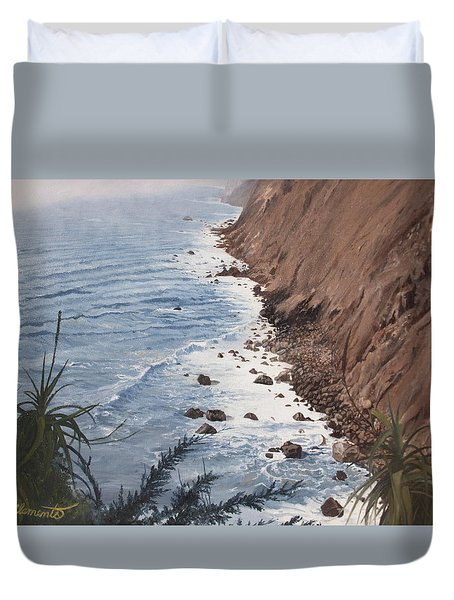 Ragged Point California Duvet Cover