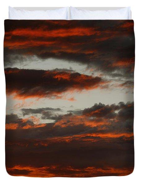 Raging Sunset Duvet Cover