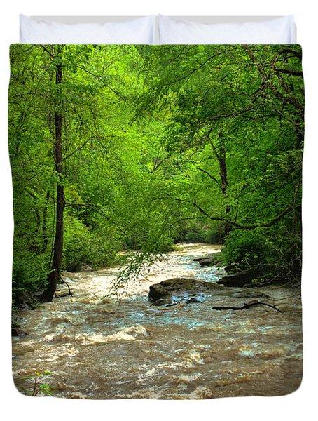 Raging Waters - West Virginia Backroad Duvet Cover