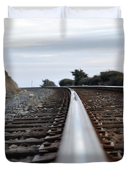 Duvet Cover featuring the photograph Rail Rode by Gandz Photography