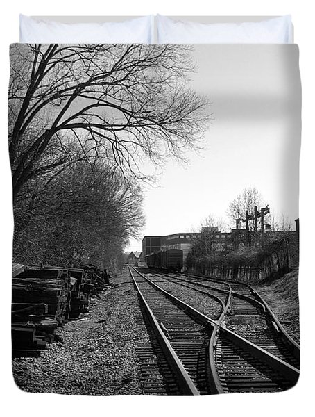 Railroad Siding Duvet Cover