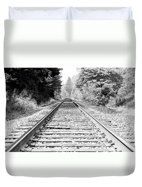 Railroad Tracks Duvet Cover by Athena Mckinzie