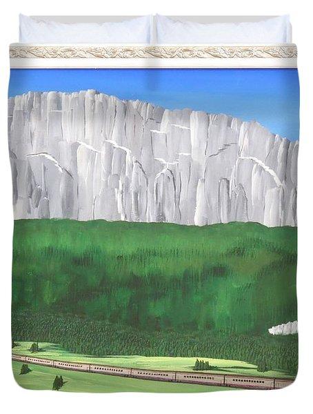 Railway Adventure Duvet Cover by Ron Davidson