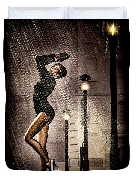 Rain Dance Duvet Cover by Bob Orsillo