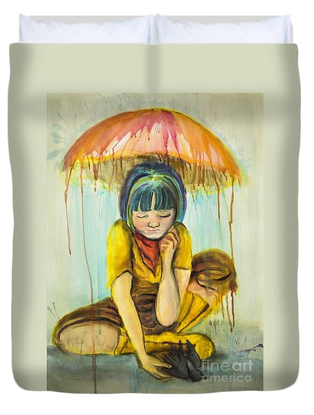 Rain Day  Duvet Cover