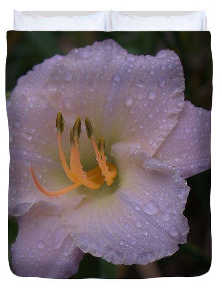Rain Daylilly 2 Duvet Cover