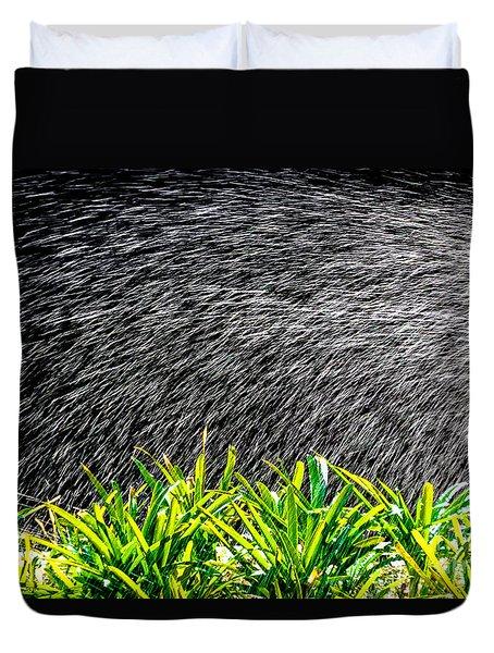 Duvet Cover featuring the photograph Rain In The Garden by Edgar Laureano