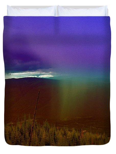 Rain North Of Bonners Ferry Duvet Cover by Jeff Swan