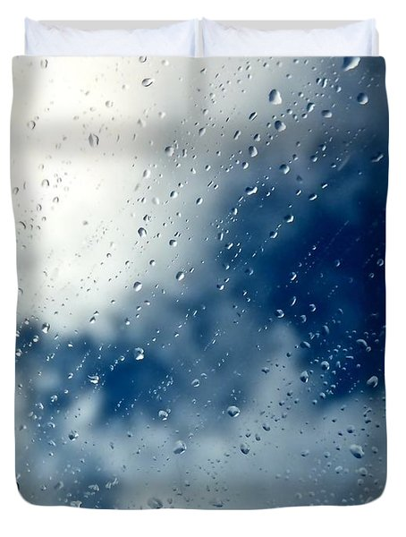 Rain Of Drops Duvet Cover