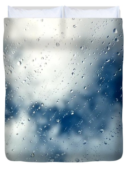 Rain Of Drops Duvet Cover by Marc Philippe Joly