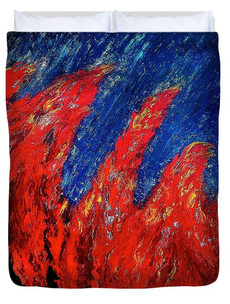 Rain On Fire Duvet Cover