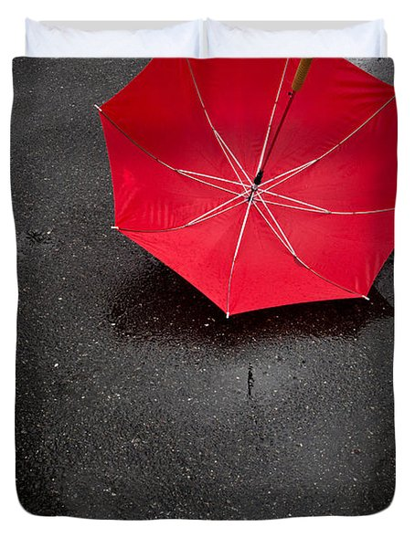 Rain Rain Go Away Duvet Cover
