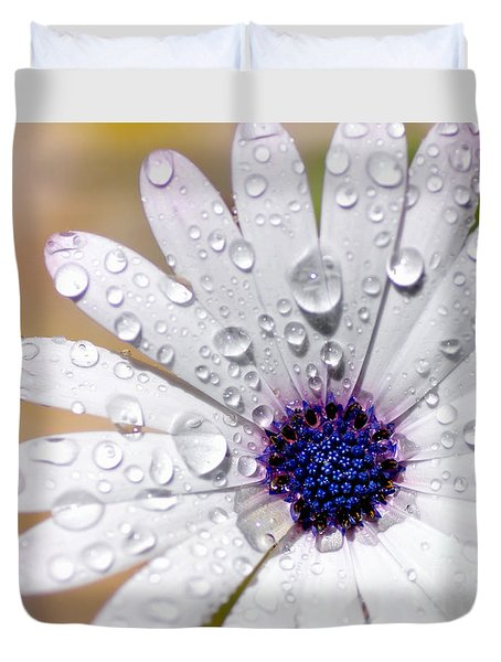 Rain Soaked Daisy Duvet Cover by Kaye Menner