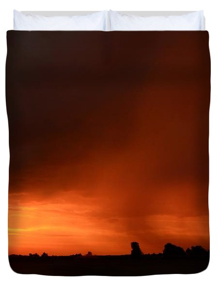 Rain Squall Sunrise Duvet Cover