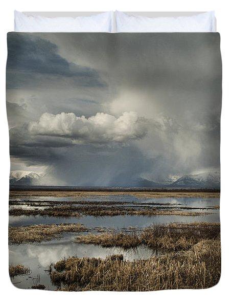 Rain Storm Duvet Cover