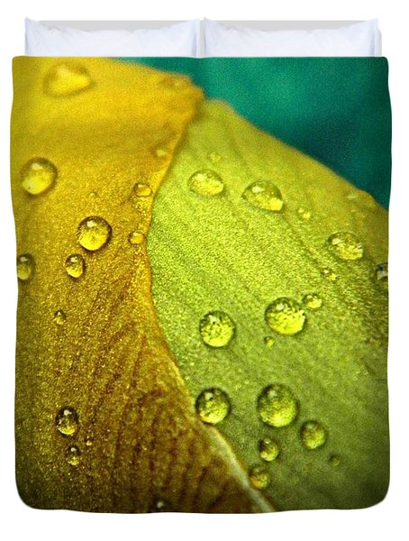 Rain Wrapped Duvet Cover by Chris Berry
