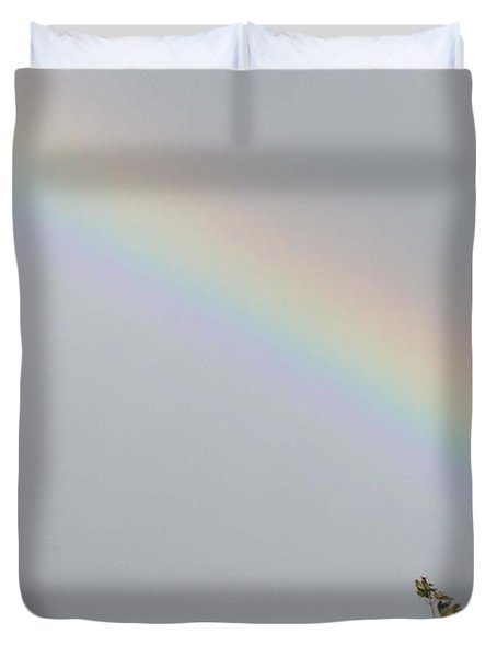 Rainbow After The Rain Duvet Cover by Barbara Griffin