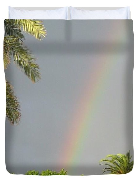 Duvet Cover featuring the photograph Rainbow Bermuda by Photographic Arts And Design Studio