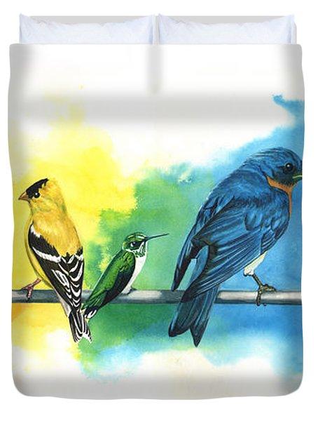 Rainbow Birds Duvet Cover