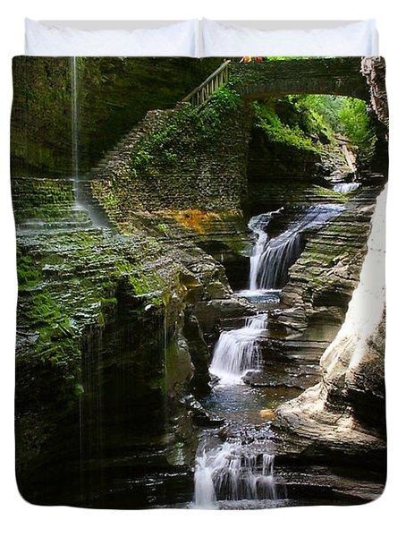Rainbow Bridge And Falls Duvet Cover