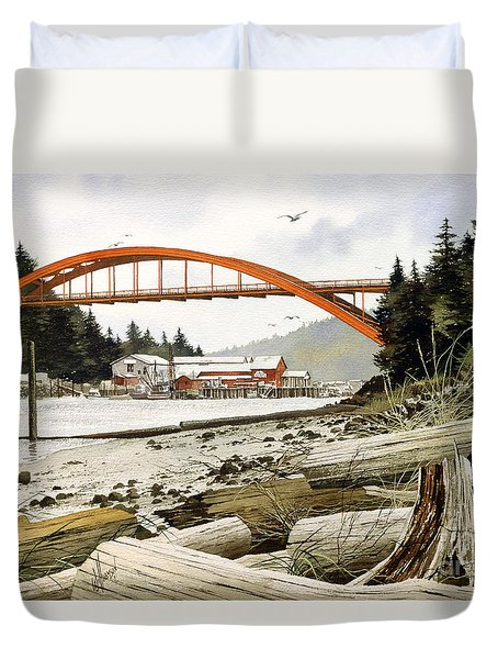 Rainbow Bridge Duvet Cover by James Williamson