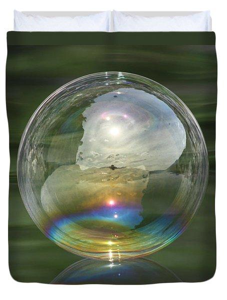 Sun Halo Rainbow Bubble Duvet Cover