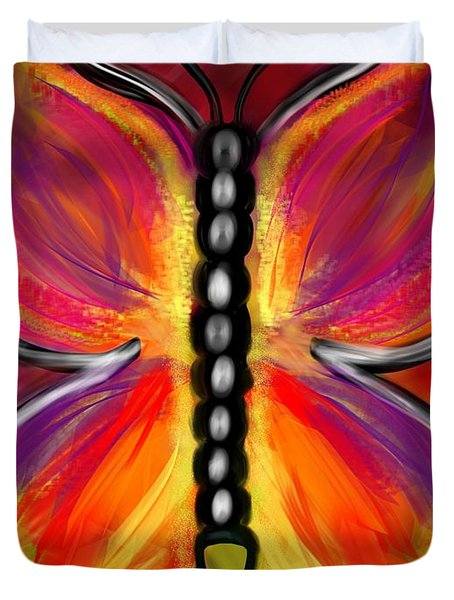 Rainbow Butterfly Duvet Cover