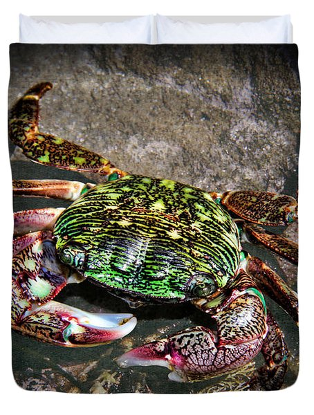 Rainbow Crab Duvet Cover by Mariola Bitner