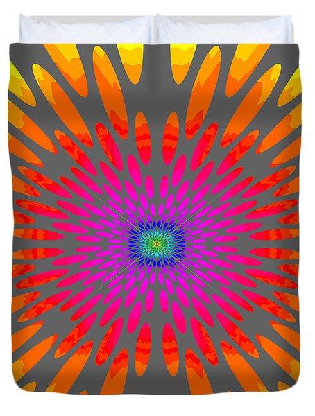 Rainbow Daisy Mandala  C2014  Duvet Cover by Paul Ashby