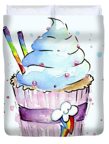 Rainbow-dash-themed Cupcake Duvet Cover