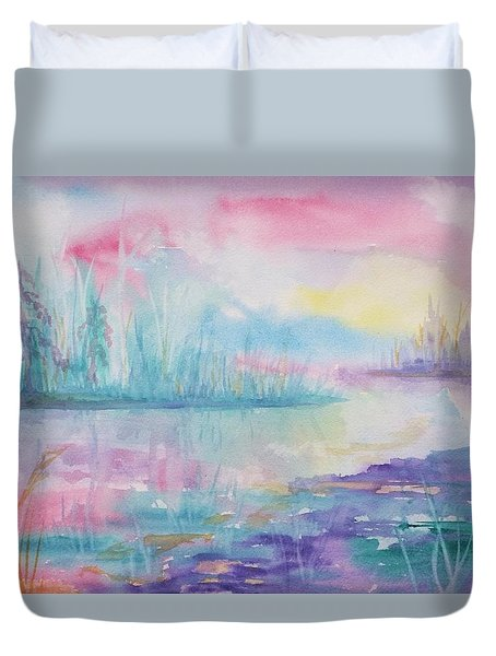 Rainbow Dawn Duvet Cover