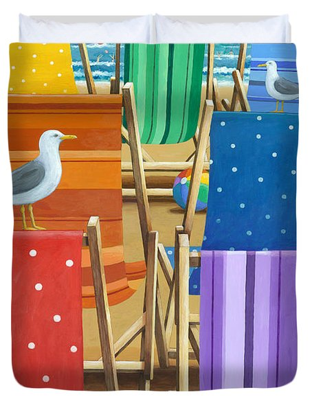 Rainbow Deckchairs Duvet Cover