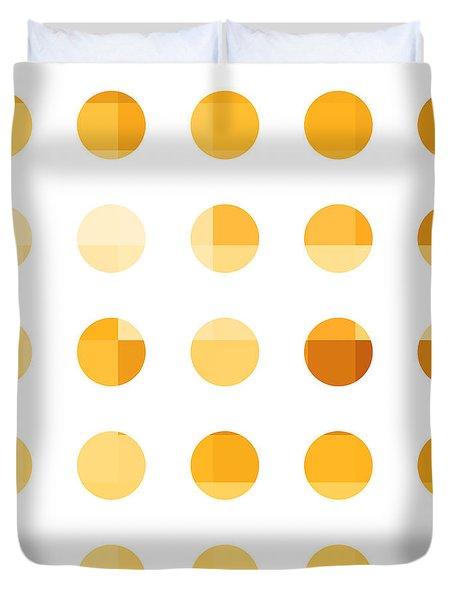 Rainbow Dots Orange Duvet Cover by Pixel Chimp