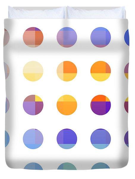Rainbow Dots  Duvet Cover by Pixel Chimp